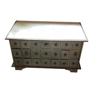 Country Rustic 21 Drawer Apothecary Chest For Sale