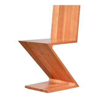 1970s Vintage Gerrit Rietveld for Cassina Zig-Zag Chair For Sale