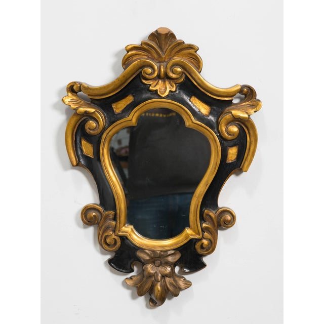 1930s Carved Wood Rococo Style Mirror For Sale In New York - Image 6 of 7
