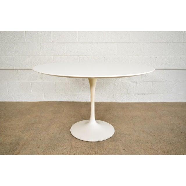 Saarinen For Knoll Large Tulip Pedestal Dining Table Chairish - Knoll pedestal table