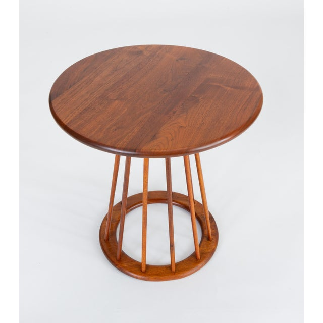 1950s 1950s Walnut Round Side Table by Arthur Umanoff for Washington Woodcraft For Sale - Image 5 of 10
