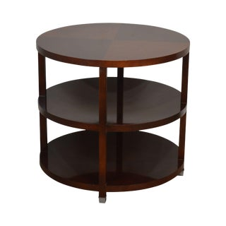 Baker Barbara Barry Round Tiered Side Table For Sale