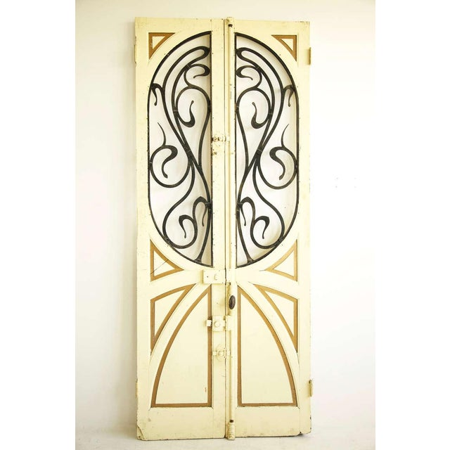 Art Nouveau Pair of Architectural Doors For Sale - Image 3 of 3