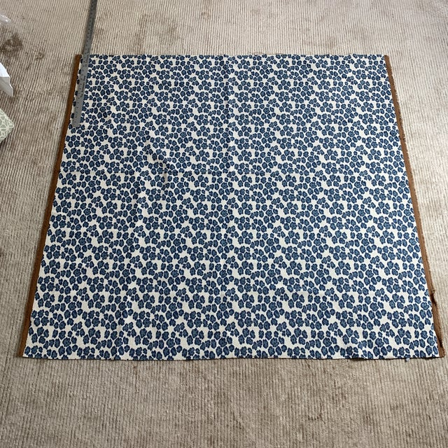 Designer Blue Leopard Spot Heavy Weight Fabric For Sale - Image 4 of 4