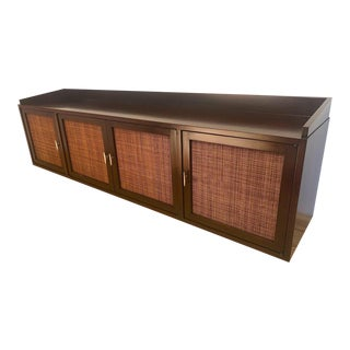 1950's Mid-Century Modern Edward Wormley Wall Mount Credenza For Sale