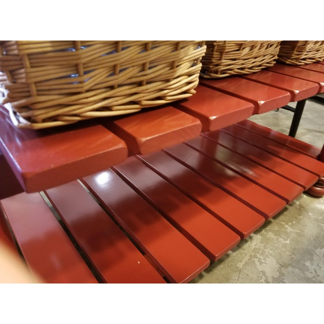 John Boos Red Maple Butcher Block Island With 3 Baskets For Sale In Los Angeles - Image 6 of 11