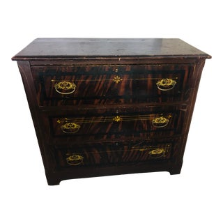 Antique Painted Pine Chest of Drawers For Sale