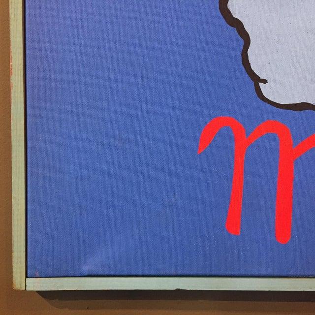 "1980s Patrick Moya ""Mercure Bleu"" Acrylic, France For Sale - Image 5 of 10"