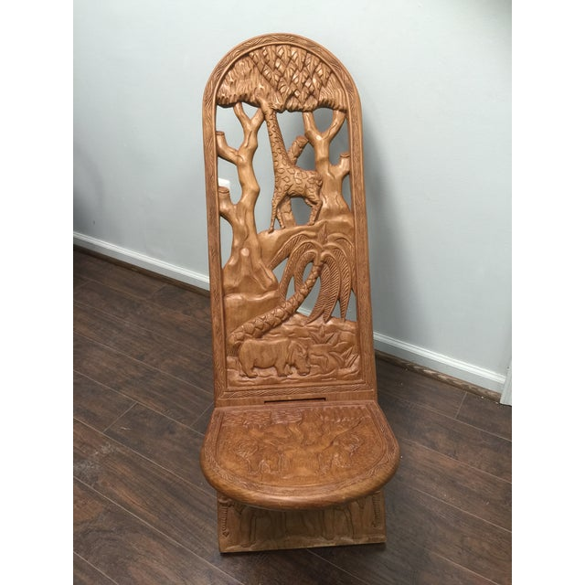 Kenyan Hand Carved Lazy-Chair - Image 2 of 6