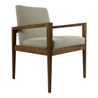 1950s Mid-Century Modern Jens Risom Accent Chair With Arms For Sale