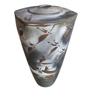 1989 Ceramic Signed Vase For Sale