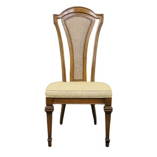 Late 20th Century Antique Furniture Makers Italian Style Cane Back Dining Side Chair For Sale