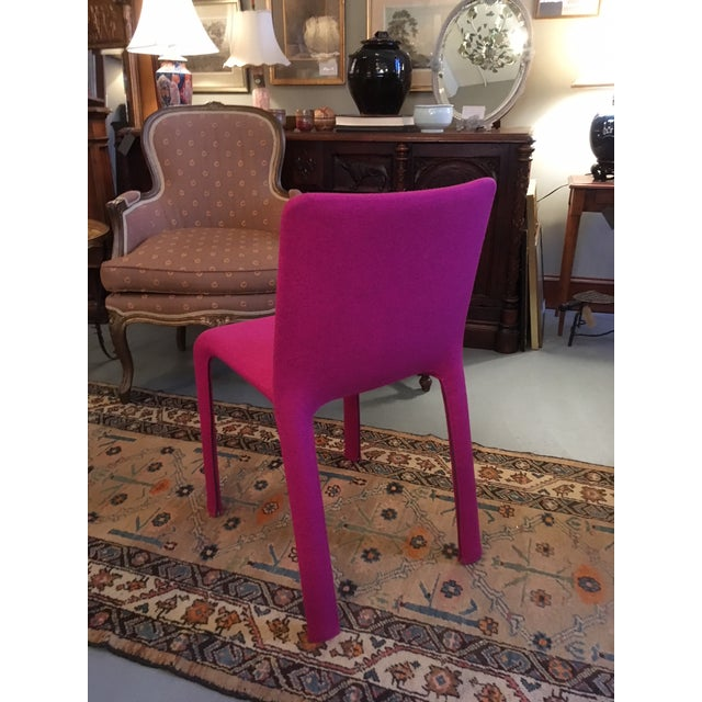 Studio Bartoli Design Magenta Joko Chair for Kristalia. Gently used with minimal wear. Difficult to capture the electric...