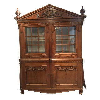 Neoclassical Continental Wood Armoire For Sale