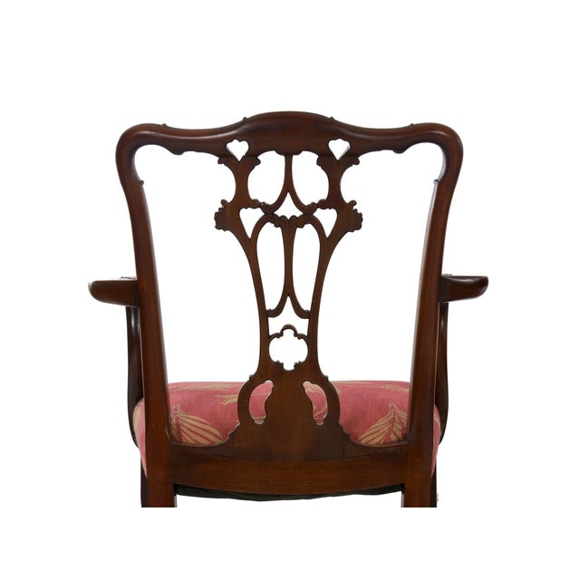 20th Century English Antique Carved Mahogany Dining Chairs - Set of 6 For Sale - Image 11 of 13