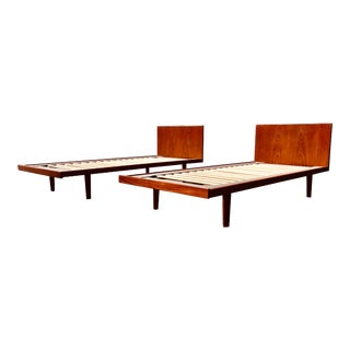 European Twin Hans Wegner Platform Bedframes - a Pair For Sale