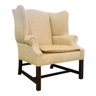 Darryl Carter for Baker Transitional Beige Morse Wingback Chair For Sale