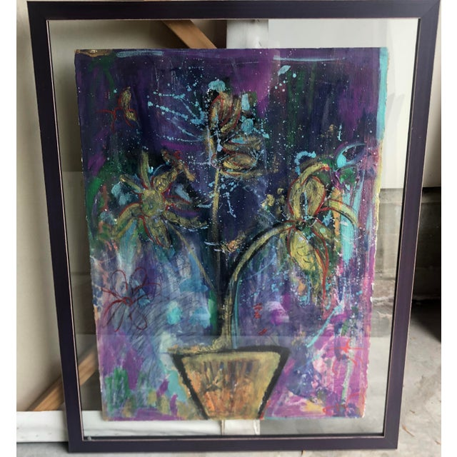 Abstract Elizabeth Martineau Abstract Hatian Painting For Sale - Image 3 of 4