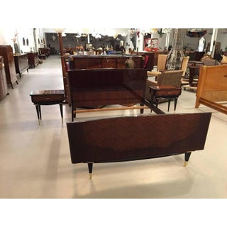 French Art Deco Bedroom Set - Bed, Nightstands and Armoire Preview