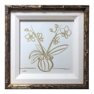 Framed Classic Orchid by Meg Britten Painting For Sale