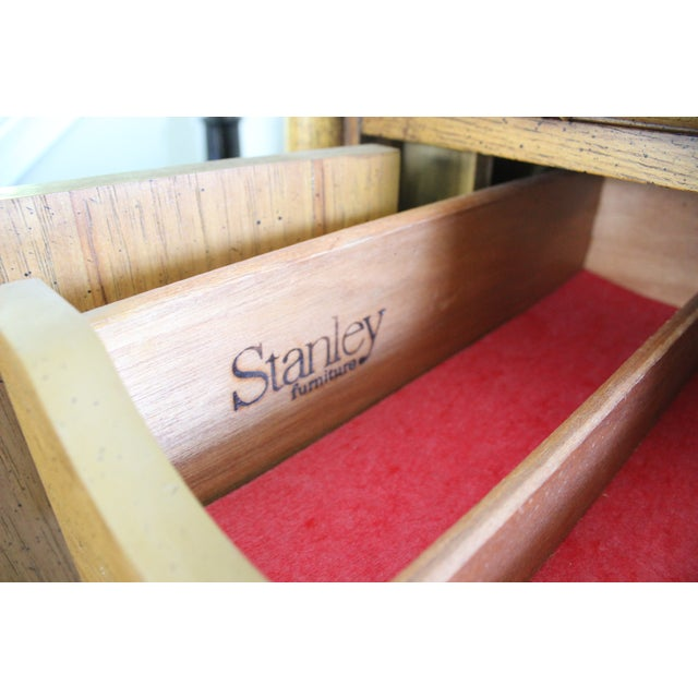 Stanley Mid Century Faux Bamboo Credenza - Image 7 of 11