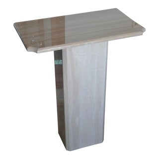 Italian Travertine Marble Pedestal
