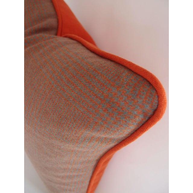 Grey & Orange Plaid Pillow in Ralph Lauren Fabric - Image 3 of 4