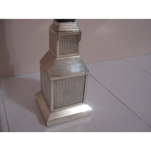Gucci Mid-Century Silver Plate Candlesticks - Pair - Image 6 of 7