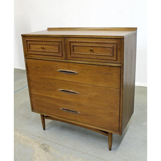 Mid-Century Modern Mid-Century Modern Broyhill Premier Sculptra Tall Chest of Drawers For Sale - Image 3 of 13