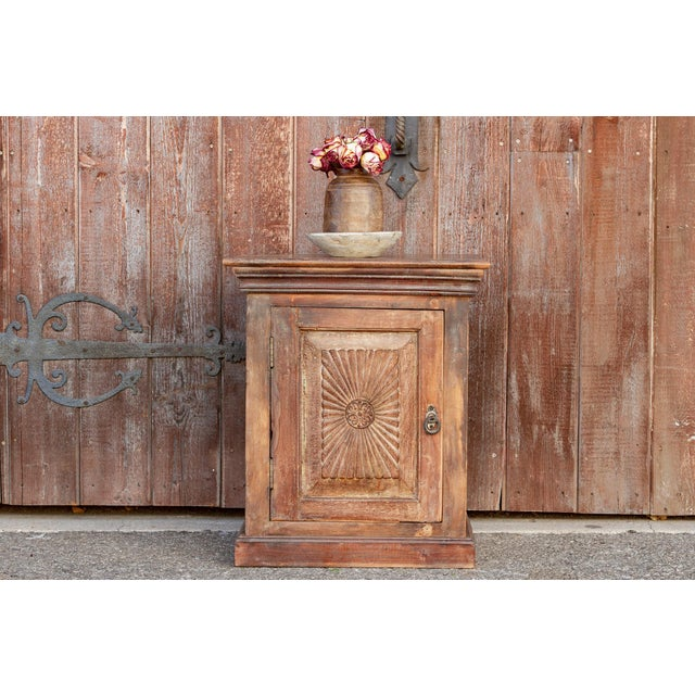 Indo-Portuguese Sunburst Nightstand For Sale - Image 11 of 12