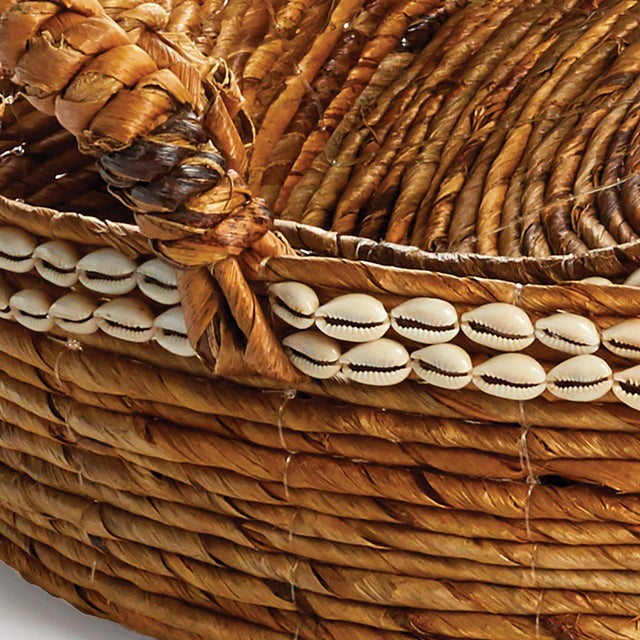 Rustic European Kenneth Ludwig Chicago Brisbane Shell Basket Trays - a Pair For Sale - Image 3 of 4