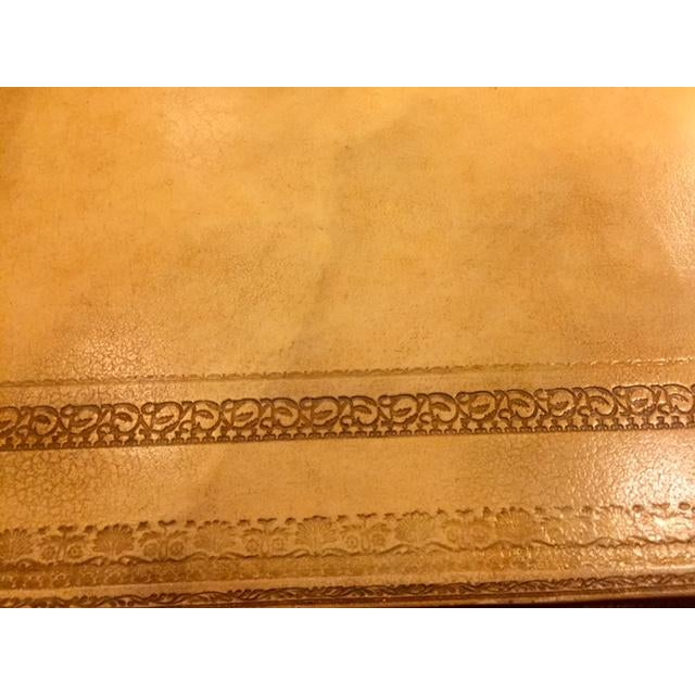 Maitland-Smith Cream Leather Writing Desk For Sale In Los Angeles - Image 6 of 12