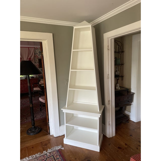 """Irwin and Lane's famous obelisk bookcase is back but this time with a pyramid top. Or as my four year old daughter says, """"..."""