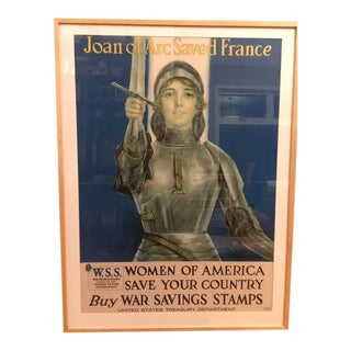 Vintage Joan of Arc WW1 Poster For Sale