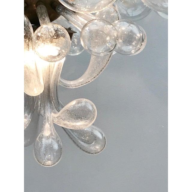 1960s 1960s Czech Republic Glass Suspension Chandelier For Sale - Image 5 of 12