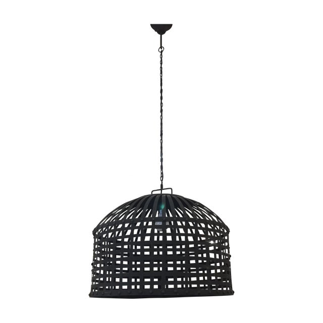 Industrial Cage Pendant Light - Image 1 of 9