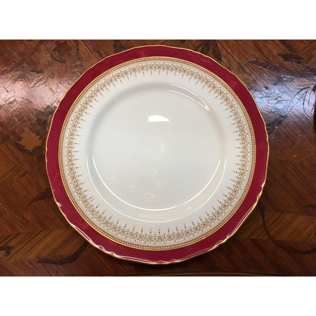 "Hollywood Regency Royal Worcester ""Regency"" China Ruby For Sale - Image 3 of 4"