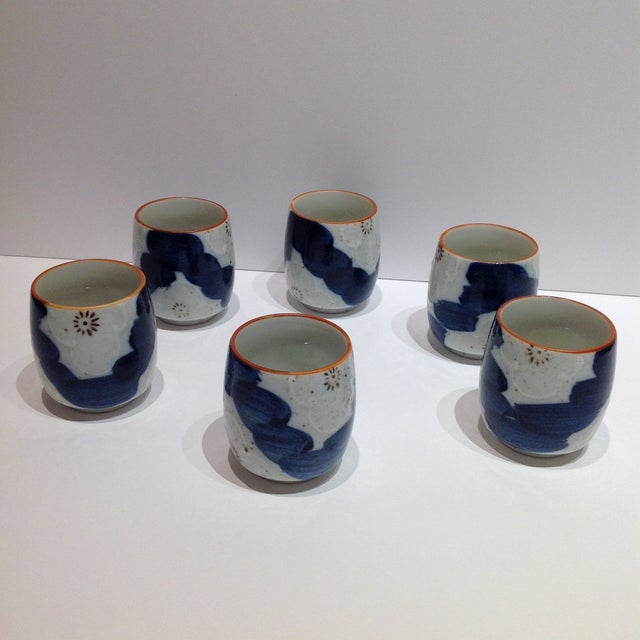 Japanese Painted Tea Cups - Set of 6 - Image 2 of 7