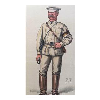 1878 Original Vanity Fair British War Correspondent Archibald Forbes Print