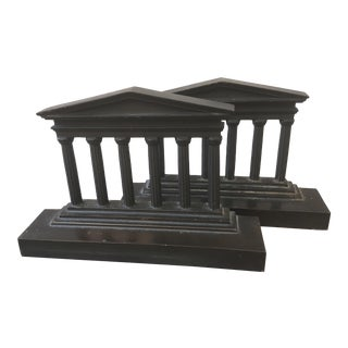 Antique Classical Bronze Bookends - a Pair For Sale