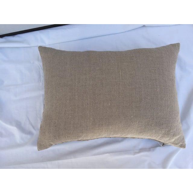 Indigo Batik Koi Fish Pillow For Sale In Los Angeles - Image 6 of 6