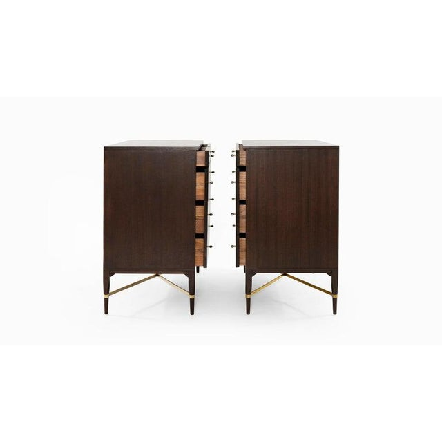 Mid 20th Century Pair of Bedside Mahogany Chests by Paul McCobb, Calvin Group, 1950s For Sale - Image 5 of 13