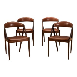 1960s Danish Modern Rosewood Kai Kristiansen Dining Chairs - Set of 4 For Sale