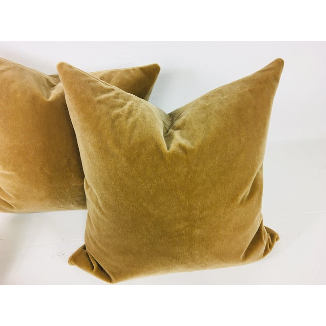 Contemporary Champagne Wool Mohair Pillows - a Pair For Sale - Image 3 of 4