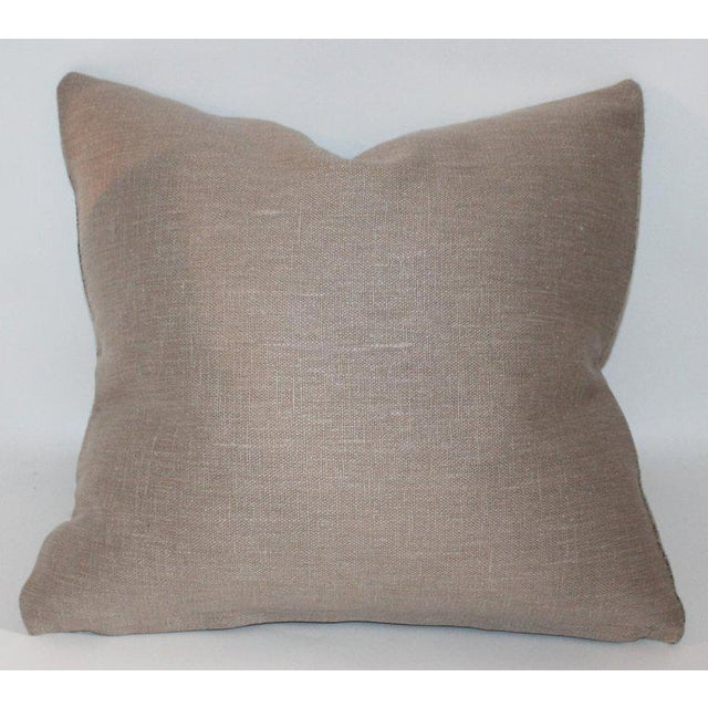 Adirondack 19th Century Early Linen Pillows - a Pair For Sale - Image 3 of 9