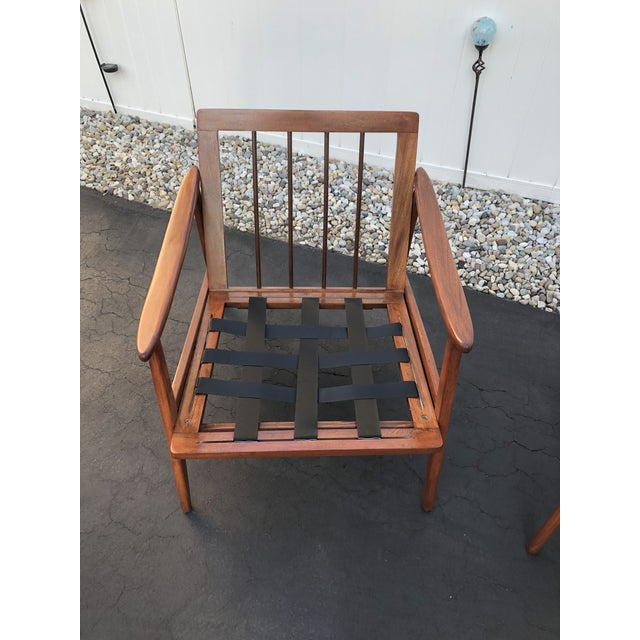 Mid Century Danish Modern Lounge Chairs- a Pair For Sale - Image 9 of 13