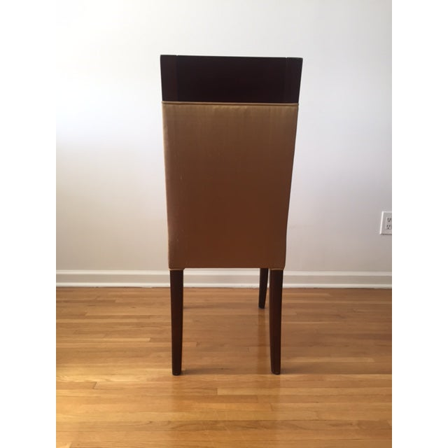 Sergio Savarese Dialogica High Back Wood and Fabric Dining Chairs - Set of 6 For Sale - Image 5 of 13