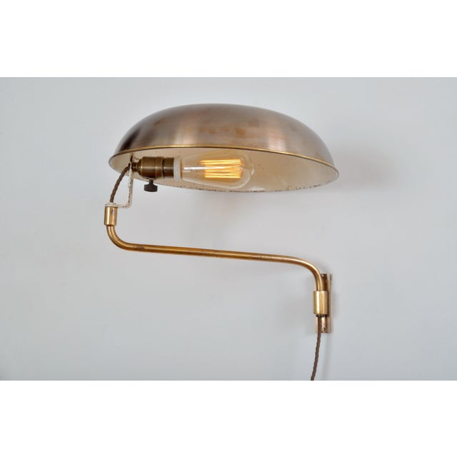 Amba Swing-Arm Wall Lamp, Switzerland, 1940s For Sale In New York - Image 6 of 12