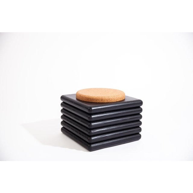 Ebonized Ridge Stool With Cork For Sale In Washington DC - Image 6 of 6
