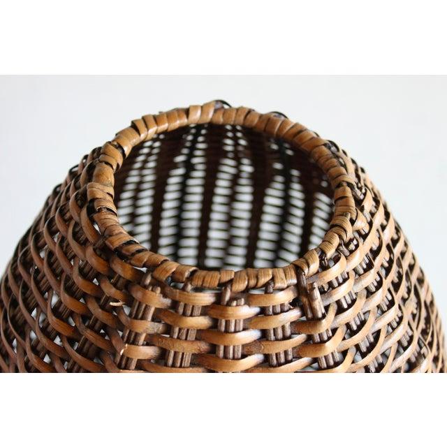 Iron Paul Mayen Mid-Century Rattan & Iron Hairpin Floor Lamp For Sale - Image 7 of 13